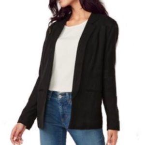 LAUREN CONRAD black relaxed open front blazer 10